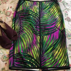 Tropical Midi Skirt Size L